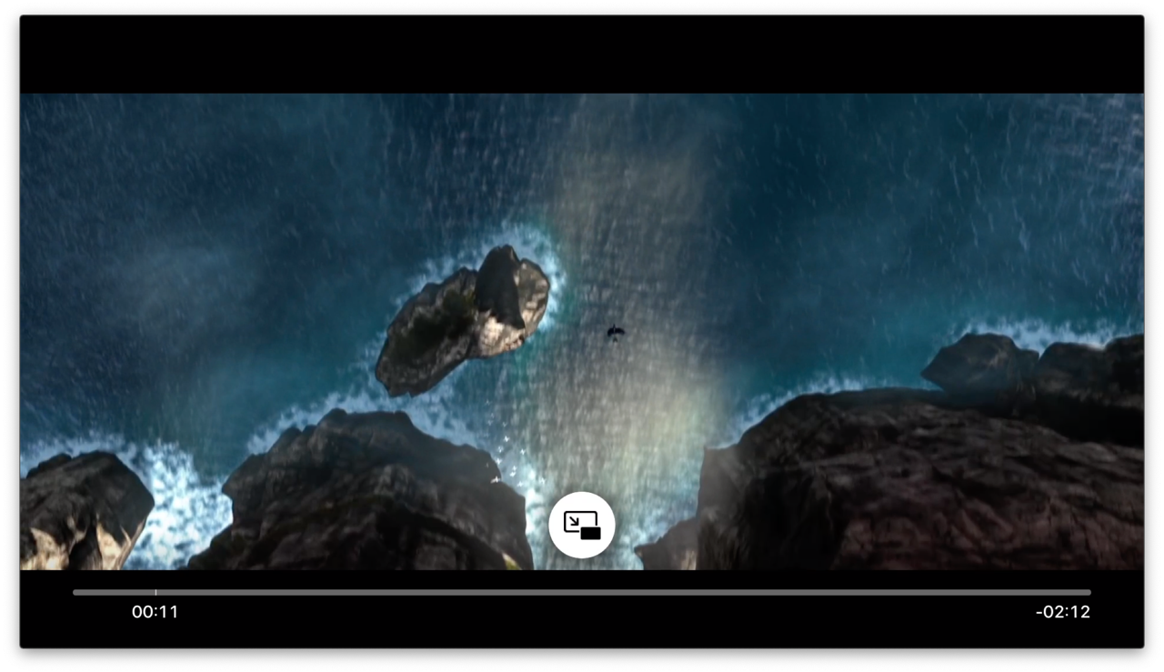 Knop voor Picture in Picture op Apple TV.