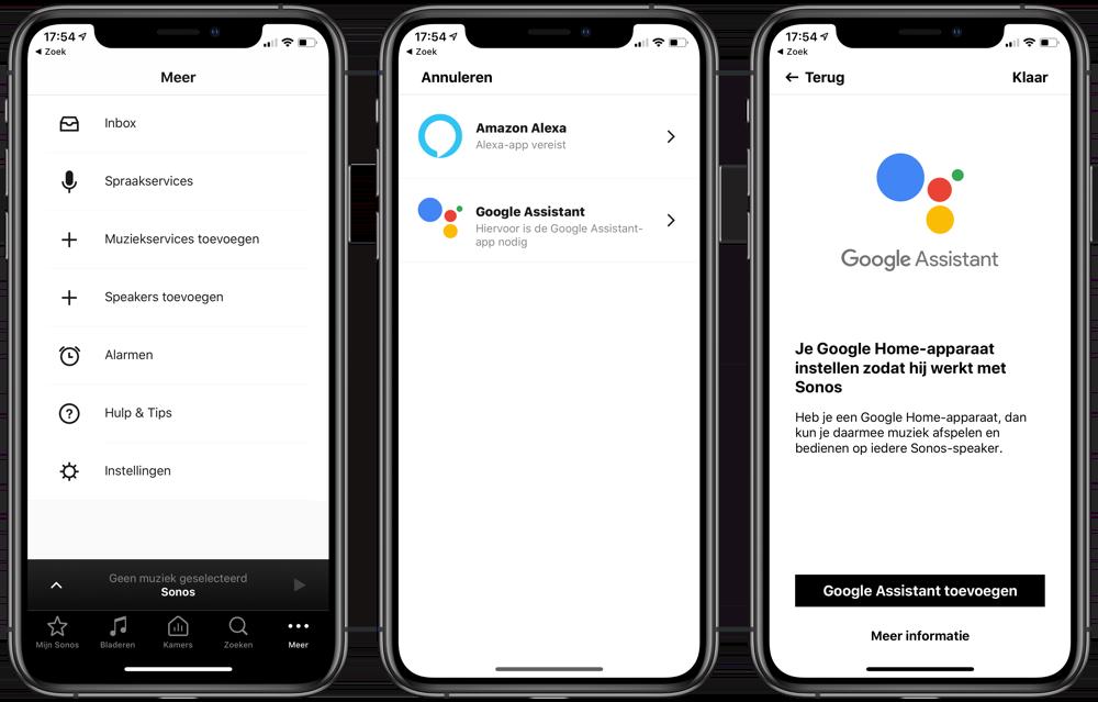 Sonos: Google Assistent toevoegen