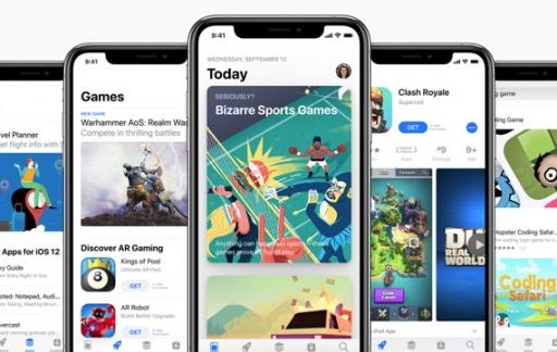 App Store schermen