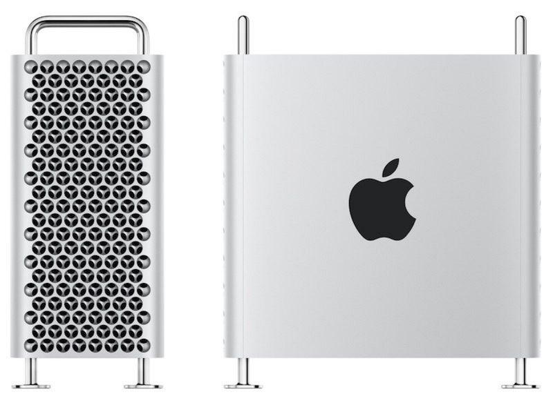 Mac Pro 2019 zijkant en front