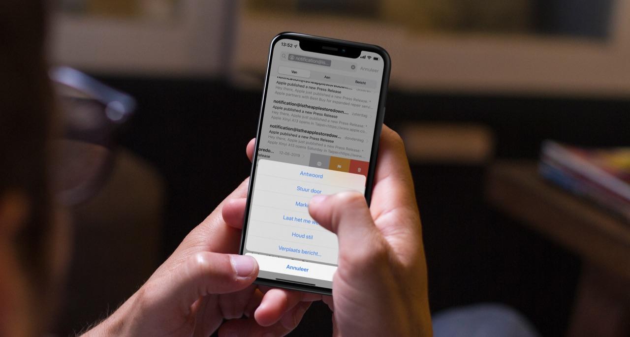 Mail stilhouden op iPhone.
