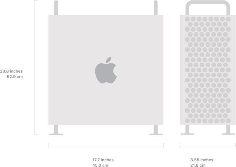 Mac Pro afmetingen
