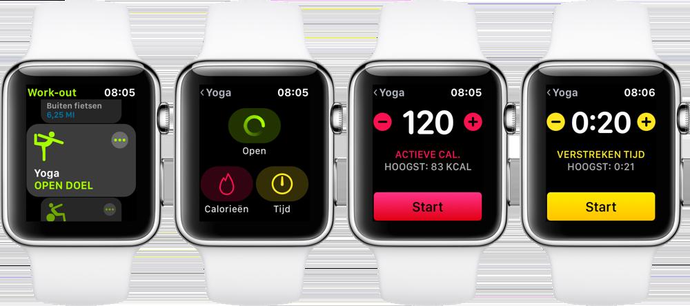 Yoga op Apple Watch
