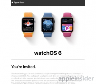 watchOS 6 AppleSeed
