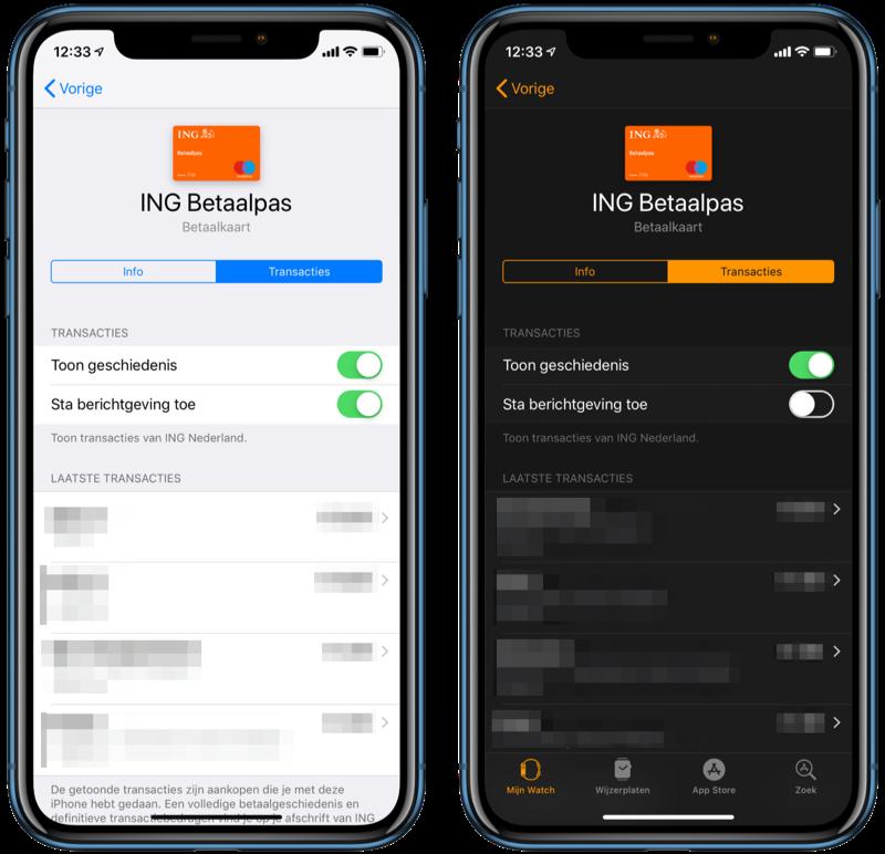 Apple Pay meldingen uitschakelen.