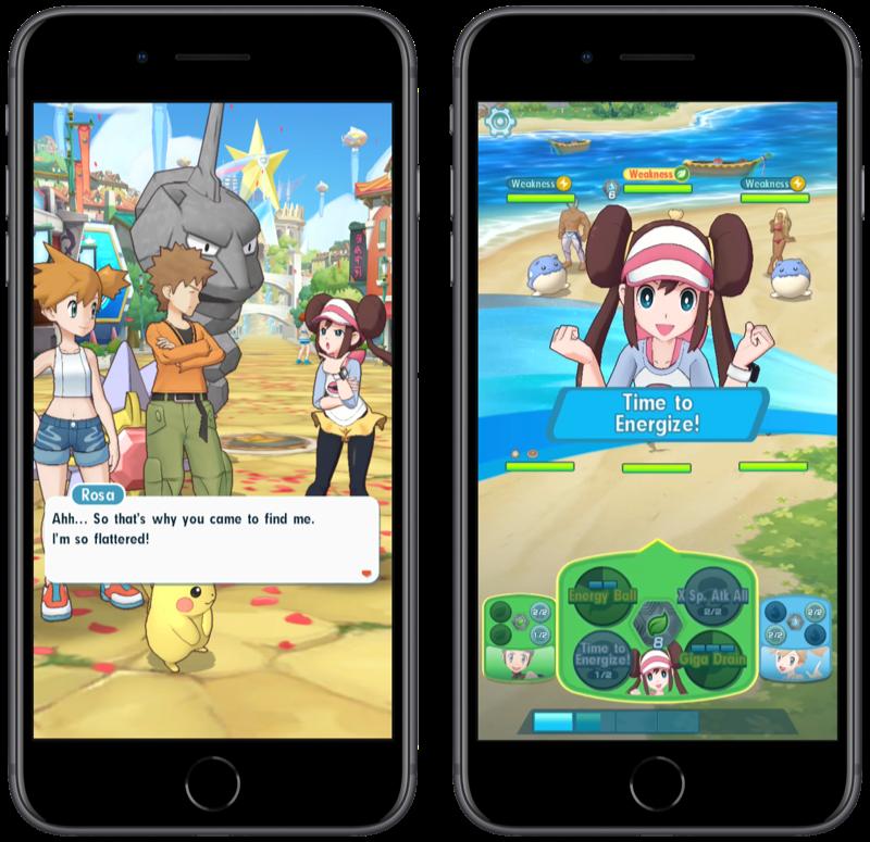 Pokémon Masters voor iOS.