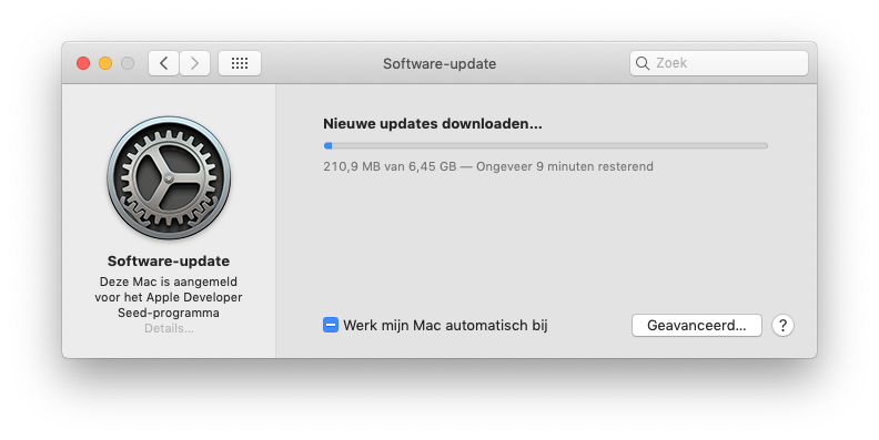macOS Catalina installeren