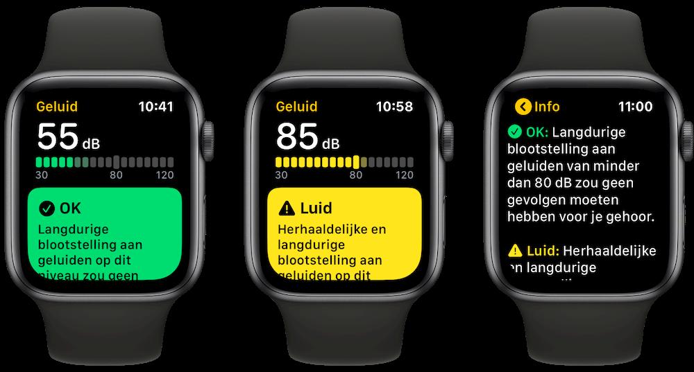 Geluid-app in watchOS 6