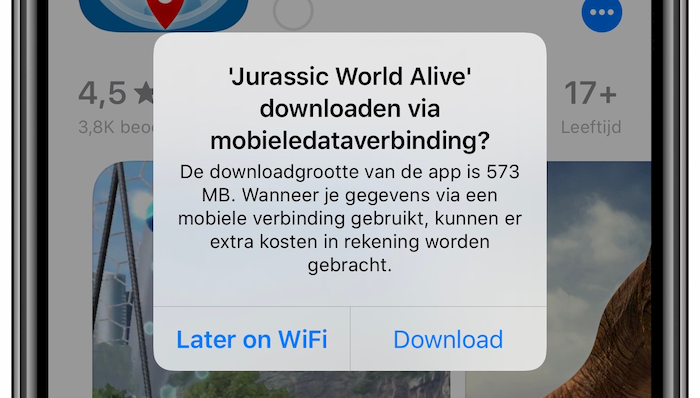 Later op Wi-Fi iOS 13 appdownloads