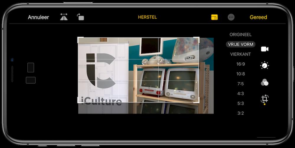 Video bijsnijden iOS 13