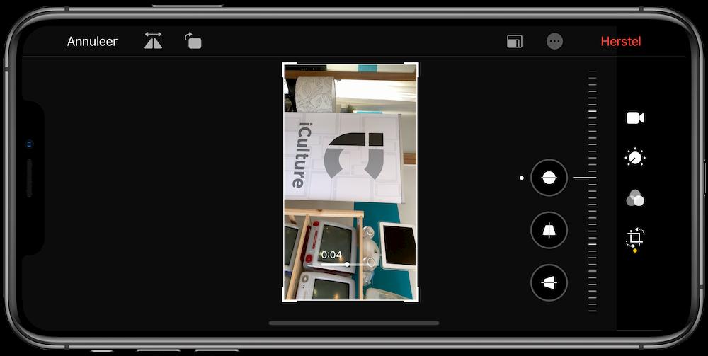 Video roteren in iOS 13