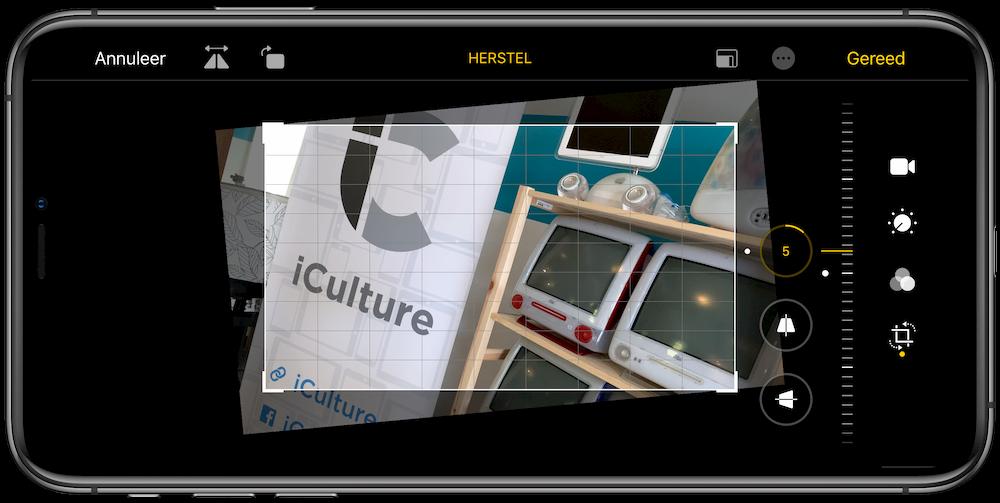 Video rechtzetten in iOS 13