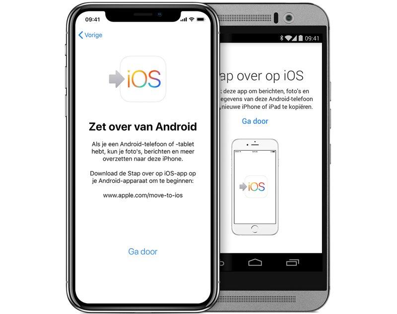 Move to iOS werkt niet