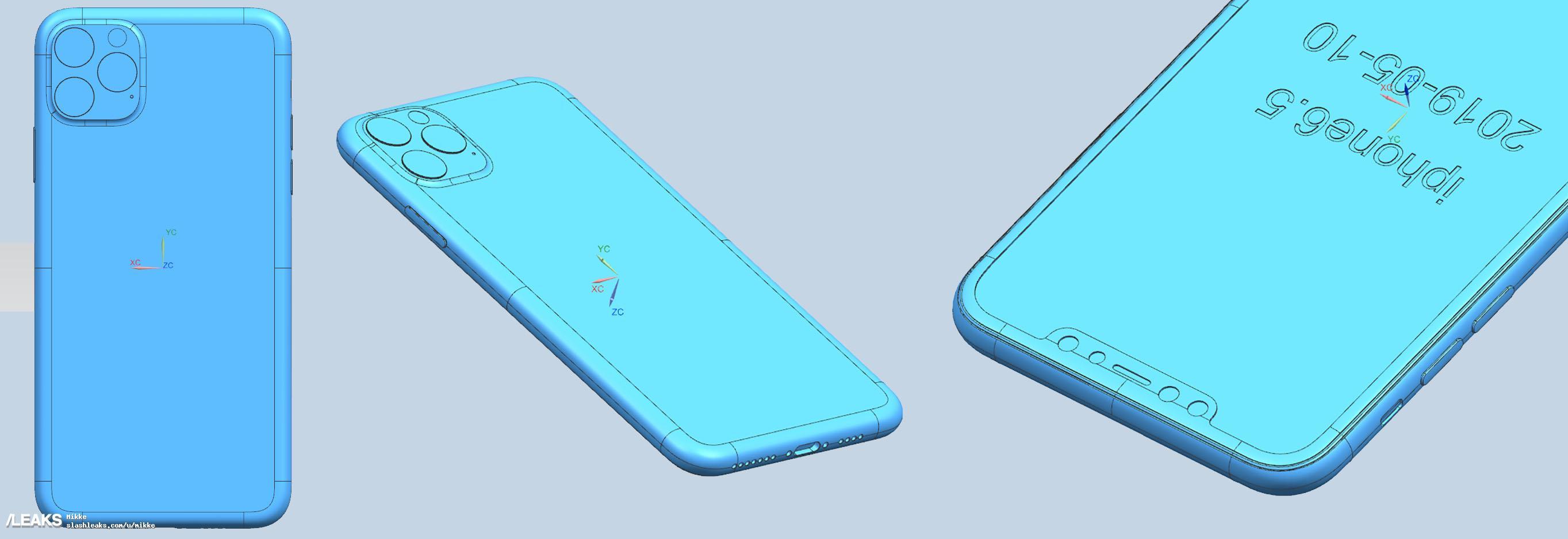 iPhone 11 Max CAD schematische tekening.