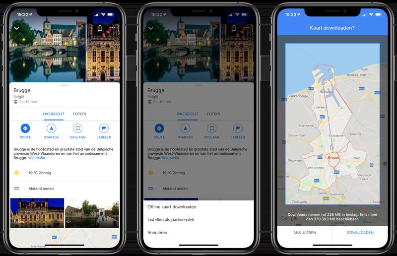 Google Maps: offline kaarten bewaren op iPhone en iPad
