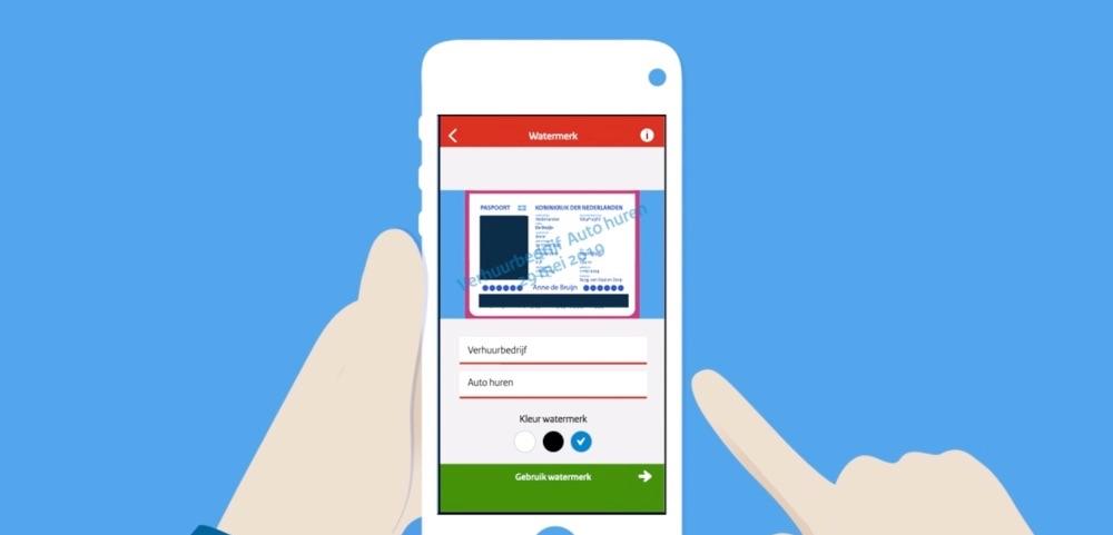 KopieID-app met watermerk.