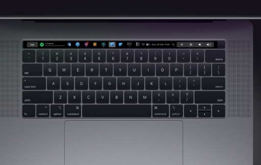 Pock op MacBook Pro Touch Bar.