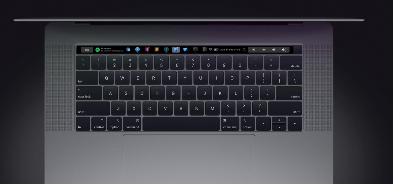 Pock op MacBook Pro Touch Bar.