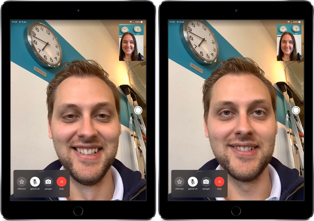 FaceTime oogcontact