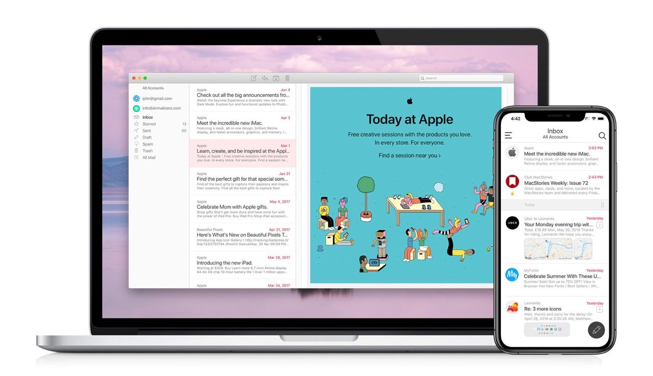 Airmail Zero voor Mac en iOS.