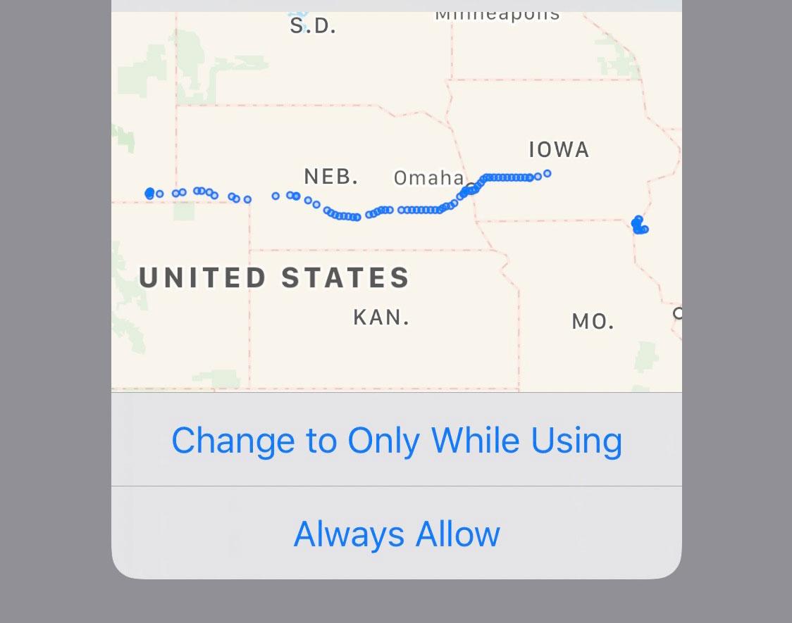 iOS 13 locatietracking