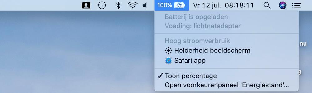 Hoog stroomverbruik op Mac