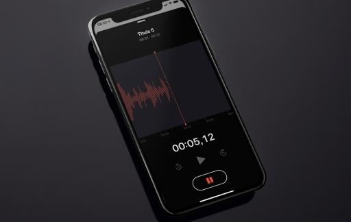 Dictafoon op iPhone