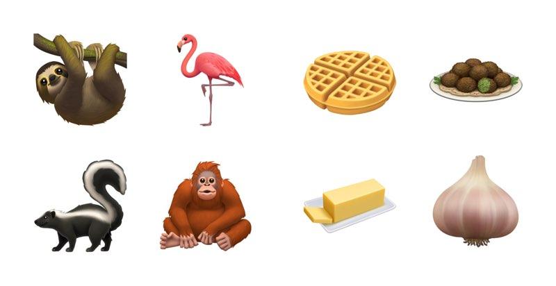 iOS 13 emoji dieren en voedsel