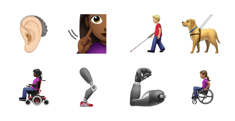 iOS 13 emoji handicaps