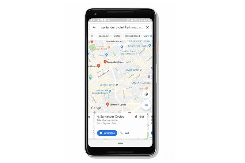 Google Maps deelfietsen
