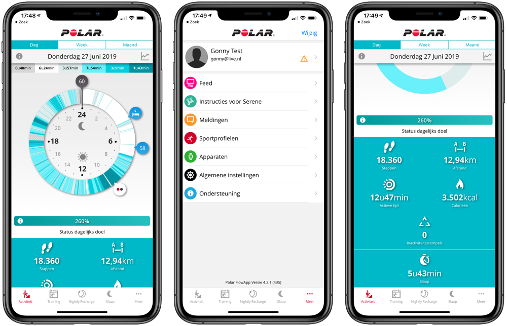 Polar Ignite app