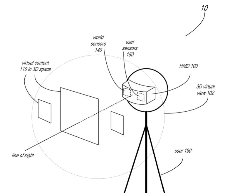 AR-bril bediening in een patent.