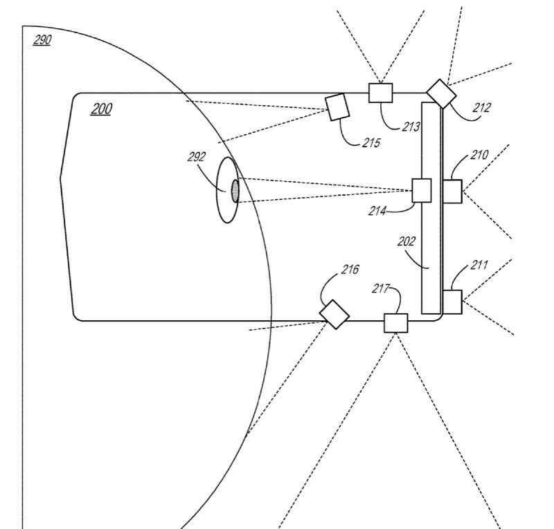AR-bril sensoren in patent.