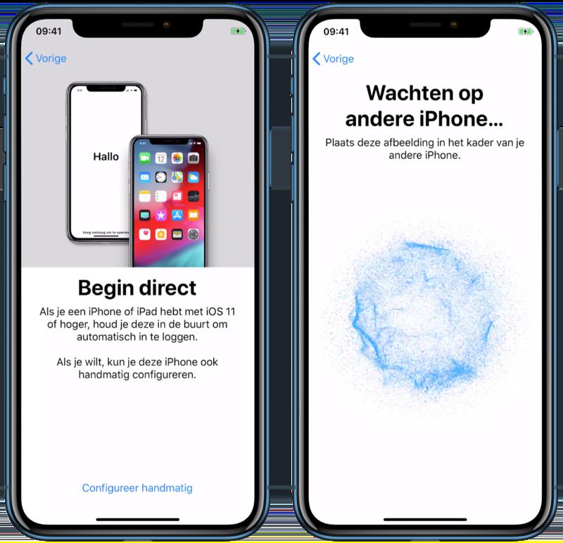 iPhone gegevens overzetten met Begin Direct.
