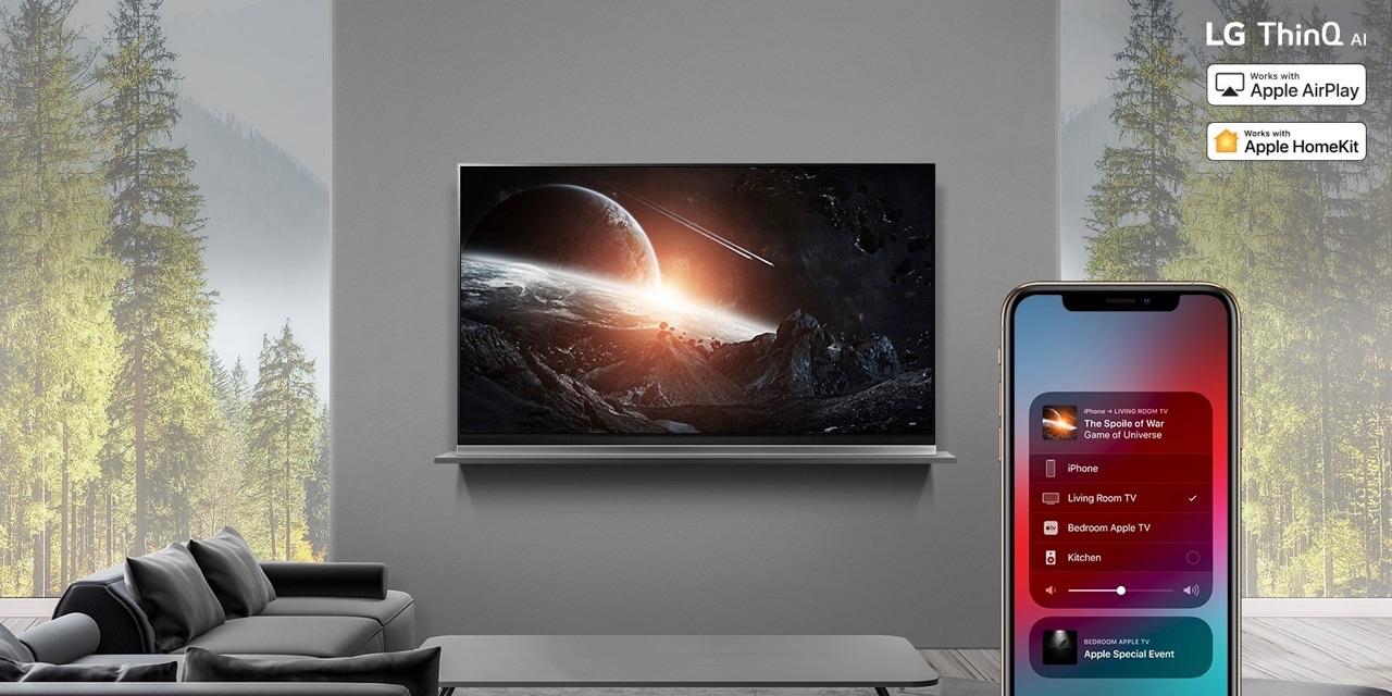 LG televisie met HomeKit en AirPlay 2.