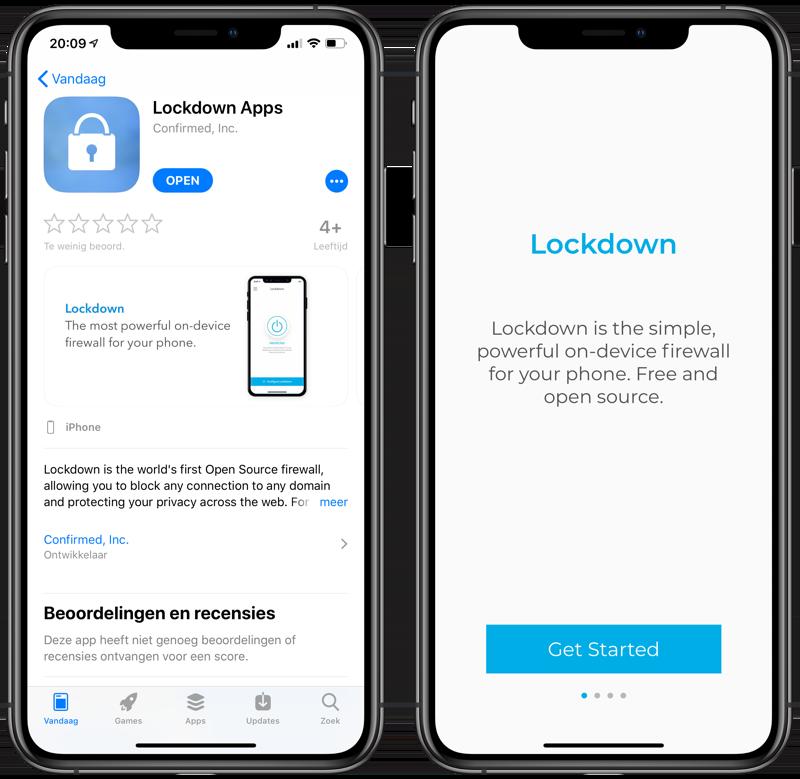 Lockdown app voor iPhone