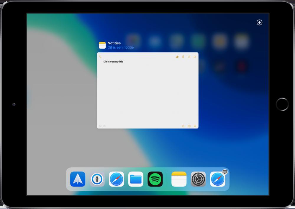 iPadOS 13 app venster openen.