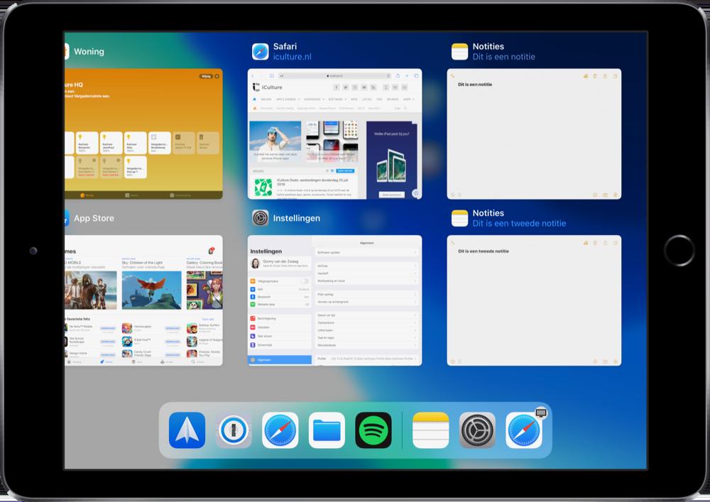 iPadOS 13 app vensters bekijken.