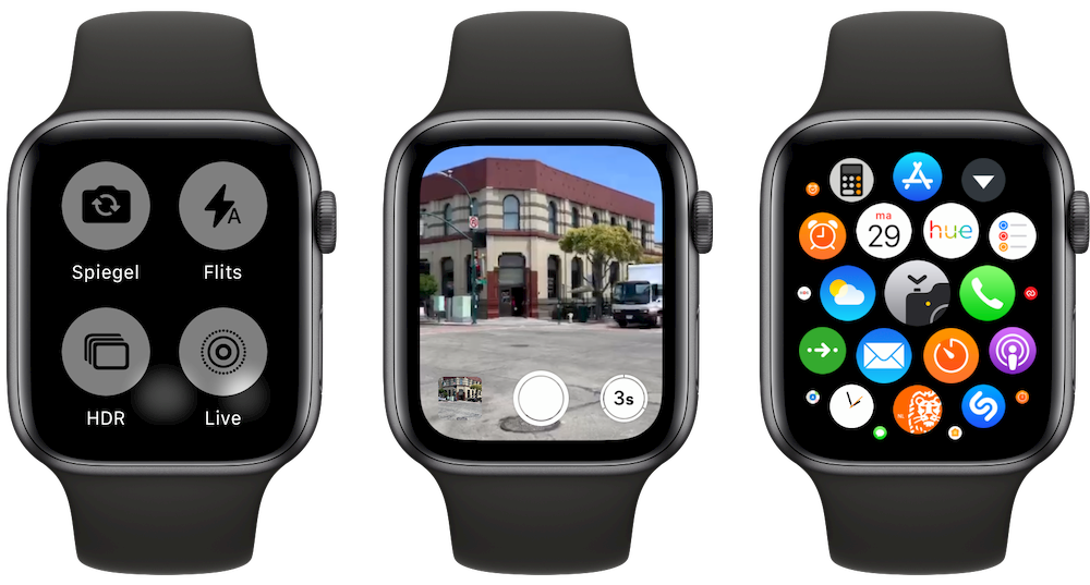 Camera-app op Apple Watch