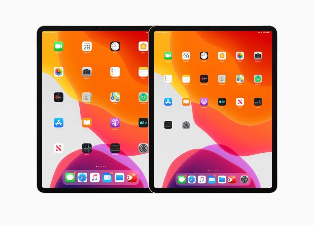 iPadOS 13 afstand tussen iconen