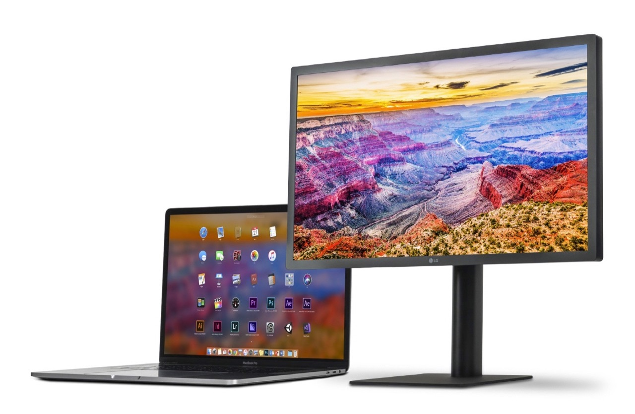LG UltraFine 5K display 2019 met MacBook.