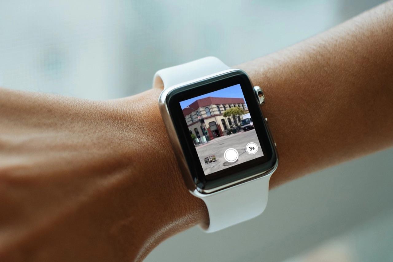 Foto maken via Apple Watch Camera-app.