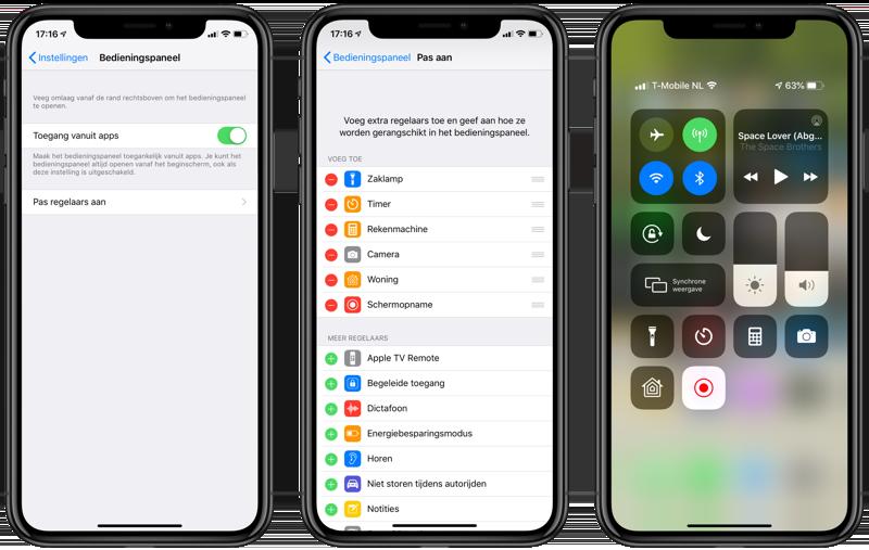 iPhone-schermopname voor ReplayKit