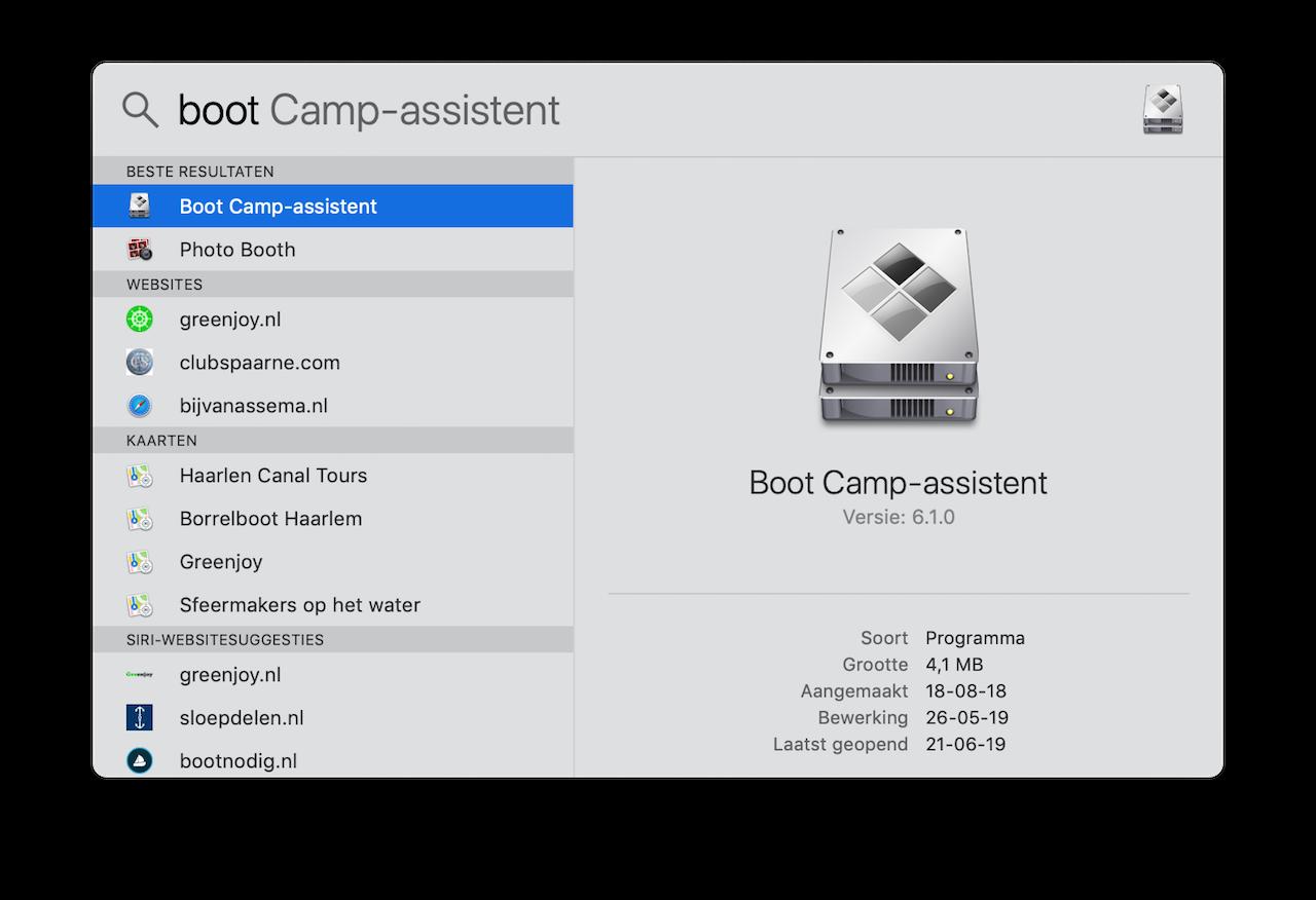 Bootcamp stappenplan 2