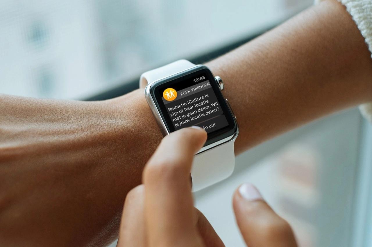 Zoek mijn Vrienden op Apple Watch.