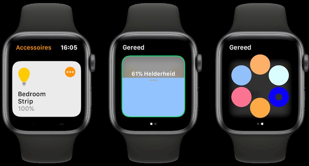 Verlichting met HomeKit op Apple Watch