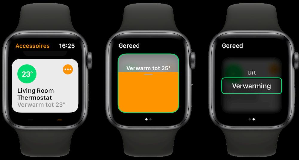 Thermostaat met HomeKit vanaf Apple Watch