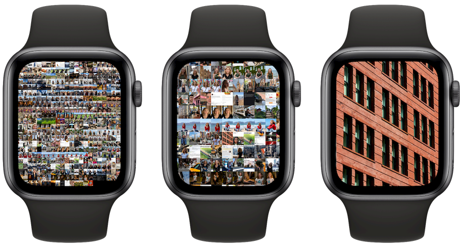 Scrollen in Foto's op Apple Watch