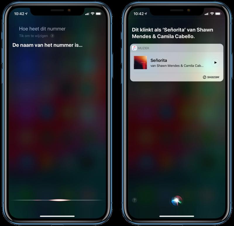Siri muziek herkennen met Shazam.