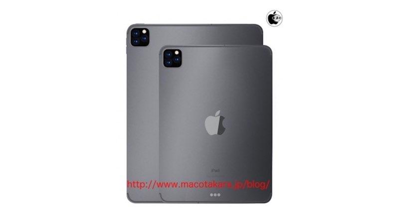 iPad Pro drie camera's